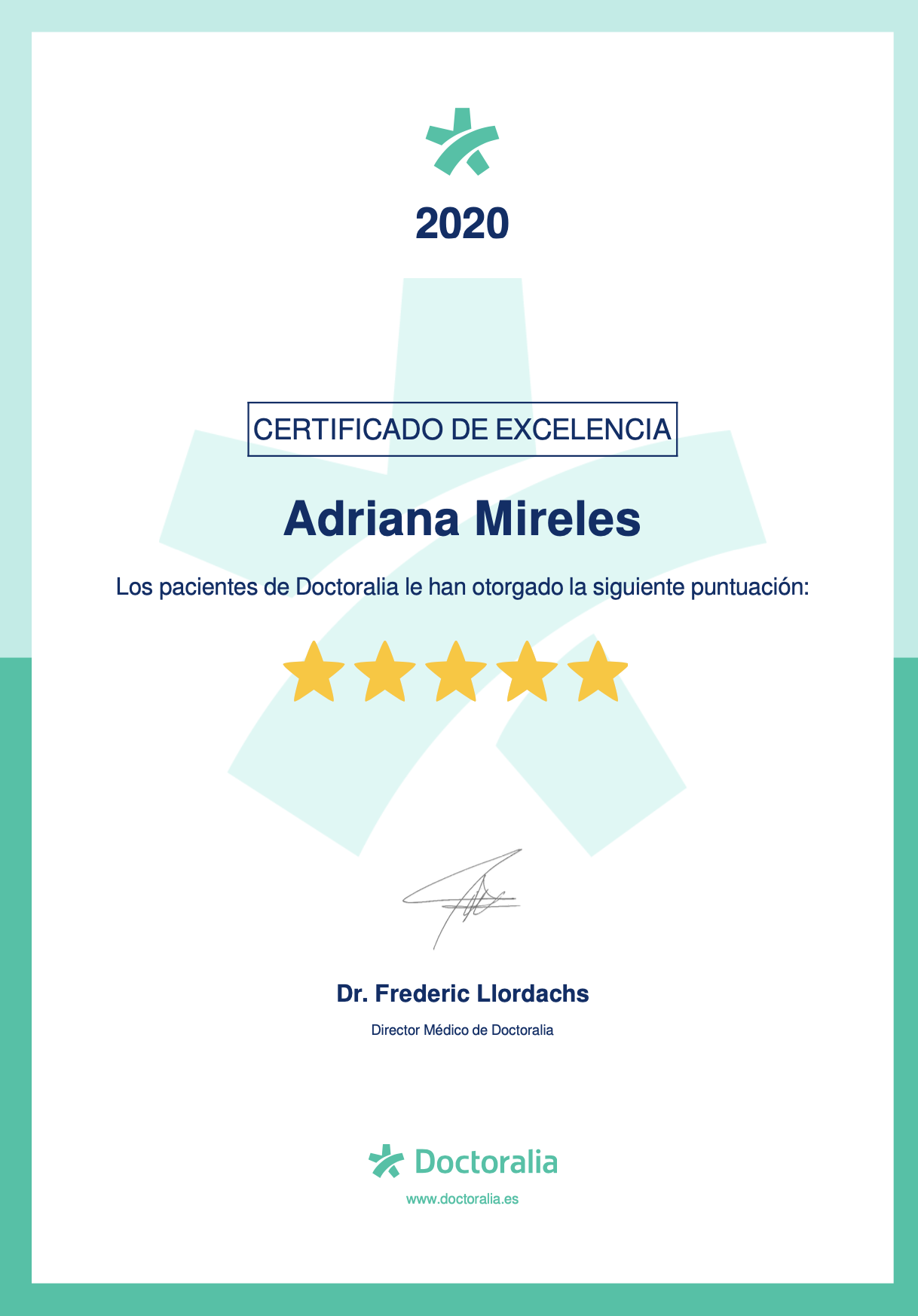 certificado excelencia doctoralia